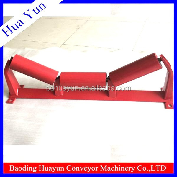 heavy load 4 inch dia bulk cement carrier roller for sand conveying system