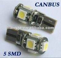t10 led smd 5050/led t10 canbus/ warning canceller 12v auto led bulb