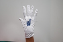 hot sale white stitched cotton inspection gloves