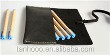 2015 new cow leather pencil case /pen holder for student