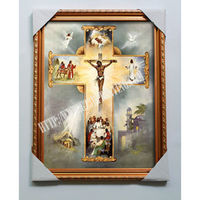 hot selling guangzhou manufacturers jesus on the cross jesus christ oil paintings