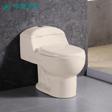 Chinese supplier ceramics offers public wc toilet set sanitary biscuit ivory color closet one pice toilet in bone color