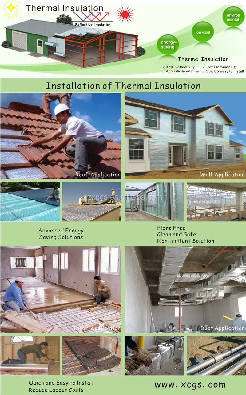 Building heat insulation materials thermal roof insulation foil roll