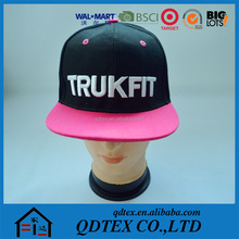 Manufacturer direct sale cool 6 panel snapback cap with custom design