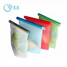 Wingenes 2018 Hot sale Reusable Vacuum Freezer Fresh Silicone Food Storage Bag