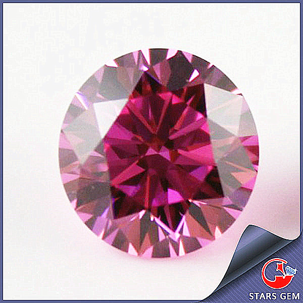 3.75mm Synthetic Pink Diamond For Sale in Zircon Stone