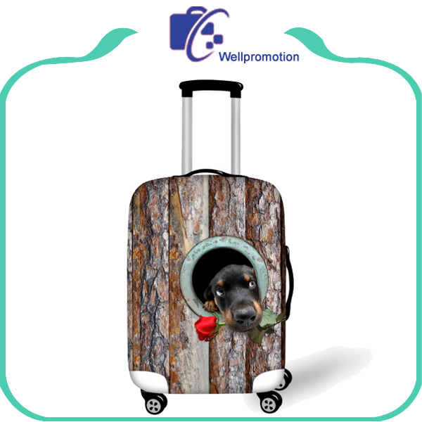 Colorful Custom Polyester Travel Luggage Cover Protector