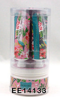 2014 christmas bath gift set Peony Rose & Jasmine Ceramic PVC Drum with Shower gel and body lotion