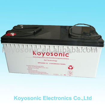 Manufacturing 12v200AH-NPG200-12 AGM Gel Battery with High Quality