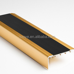anti-slip rubber aluminum stair nosing for vinyl floor