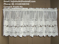 crocheted lace curtains lace valances and swags lace window scarf