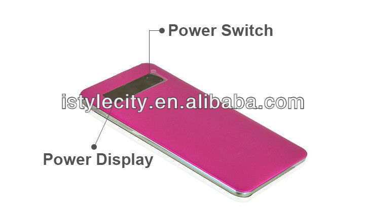 very flat power bank with stanless back,chargers for Iphones