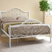 Knock-down metal double full size metal bed