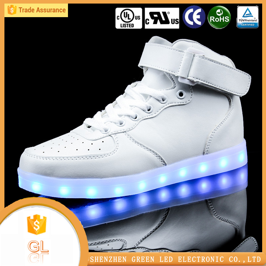 2016 Hot sell !! Girls and Boy school fashion innovative led shoes sneakers china manufacture wholesale