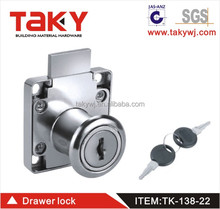 Taky-138-22 Silver Zinc Alloy Computer Desk Drawer Cabinet Cupboard Locks