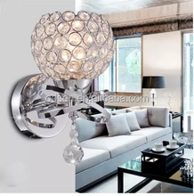 modern crystal hotel fancy decorative indoor wall light