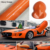Premium PVC Self-adhesive bubble free orange car vinyl wraps glossy film