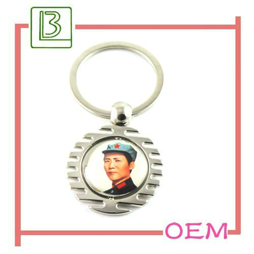 hot sale screw chaychain Mao Zedong with custom logo in Dongguan