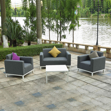 Modern design waterproof garden furniture patio outdoor sofa upholstery fabric leather sofa set