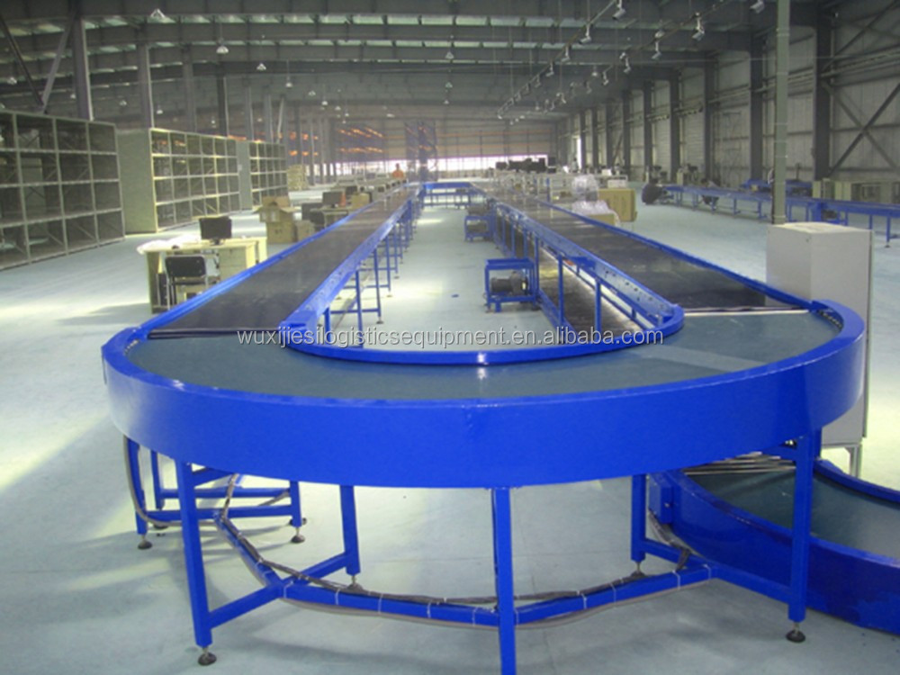 Loop PVC belt conveyor line