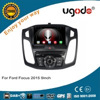 9'' single din android 4.4 quad core in dash car dvd player for Ford Focus 2015 with gps navi 3g wifi swc