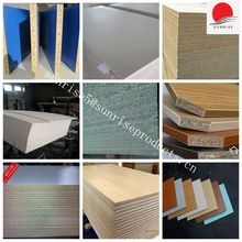 cheap price veneer melamine faced chipboard / particle board for furniture