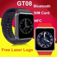 1.54 inches LCD touch screen NFC music watch mobile phone