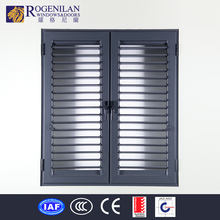 Rogenilan aluminum window with grille design shutters basement exterior window decoration