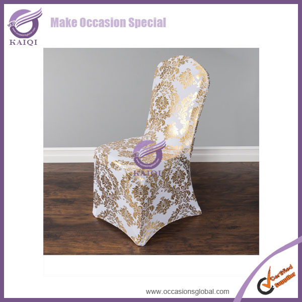 MP4001G high quality spandex fabric colorful spandex glitter chair cover wedding