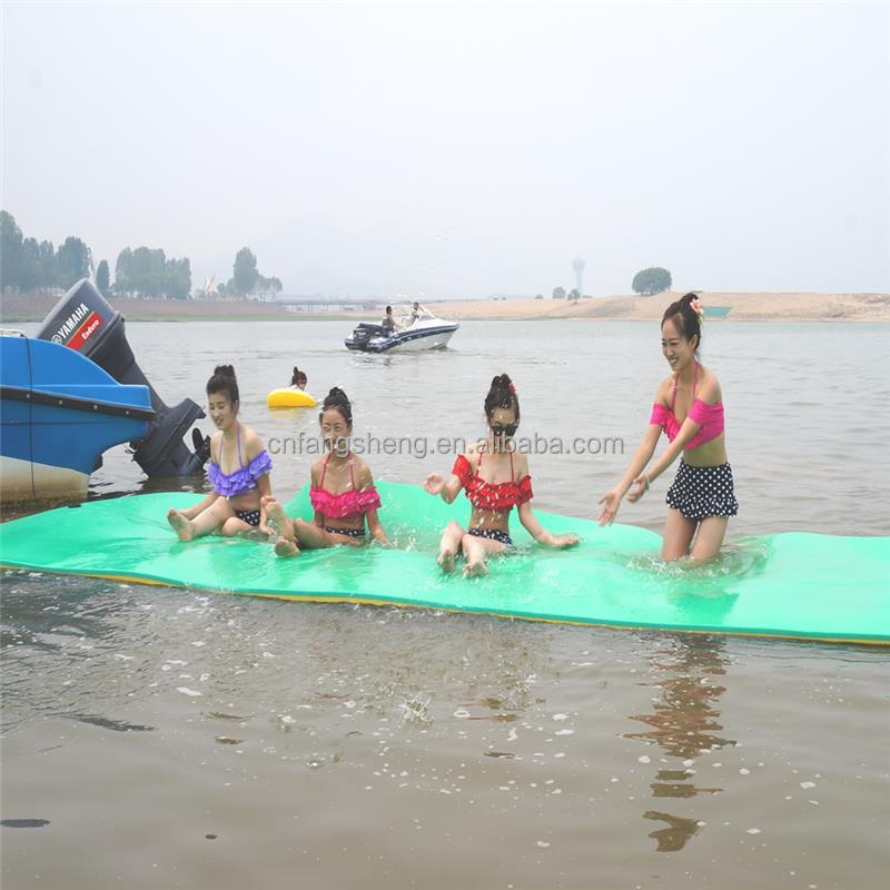 Plastic fashion mat yellow water mat for lake made in China