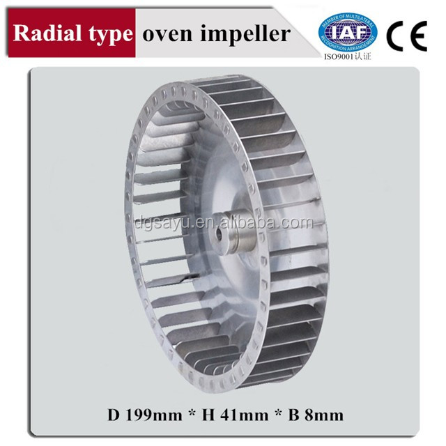 Food oven fan impeller/stainless steel impeller