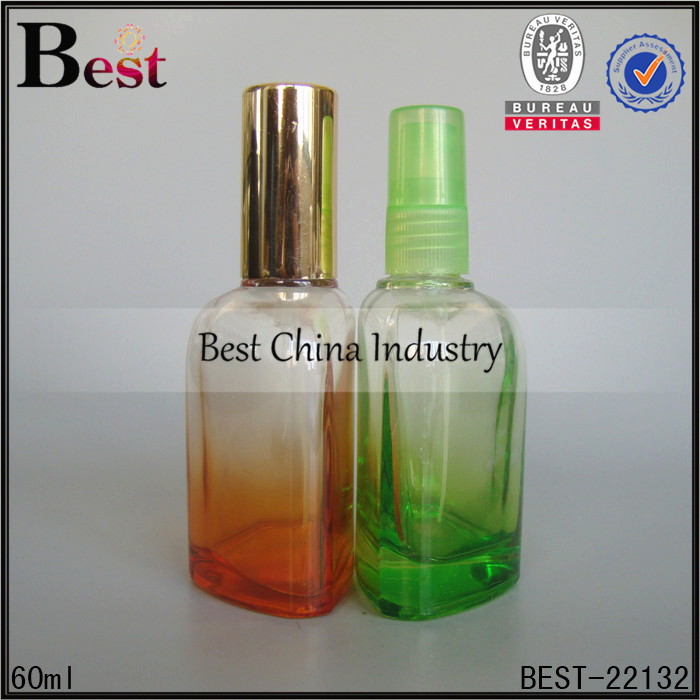 design your own perfume bottle 60ml all kinds of colors empty bottle of perfume