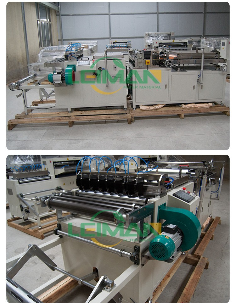600mm Air Filter Paper Rotary pleating machine Filter Manufacturing Equipment