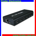 4x1 HDMI switch with 4 in 1 out 4 ports IR control 3D HD 1080P with audio putput