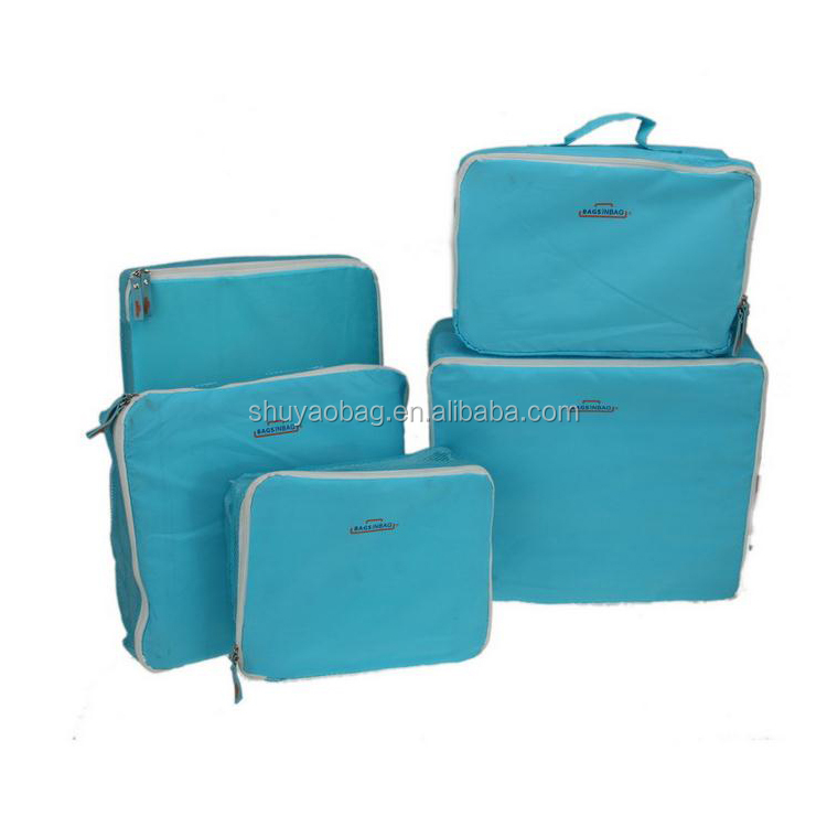 Wholesale Travel Bag 5 Pcs Set Storage Cloth Bag With Zipper.