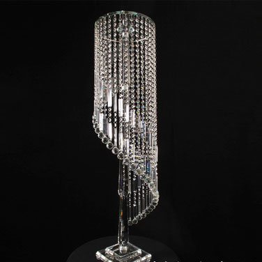 Hot sale wedding table centerpieces artificial tall crystal flower stand