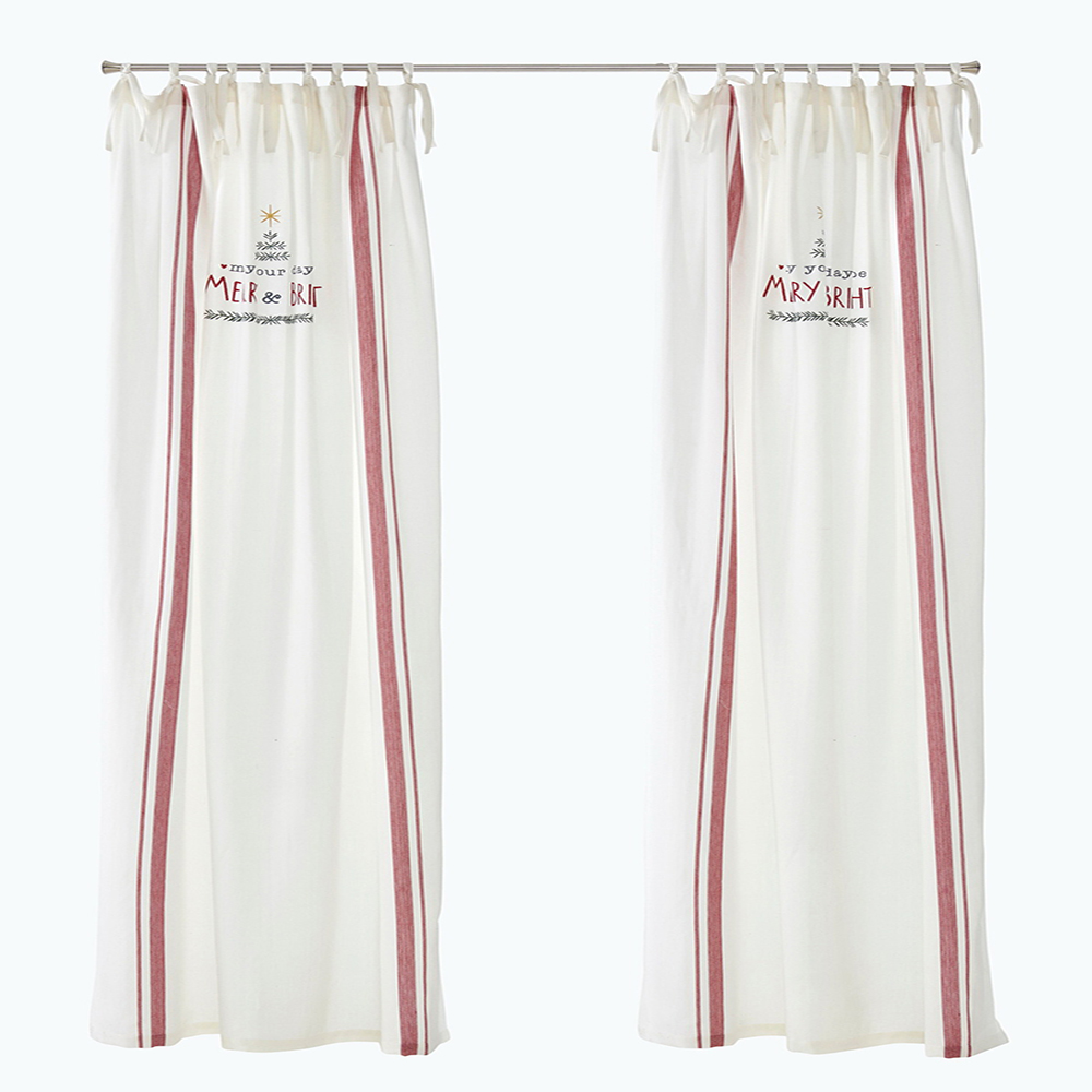 Classic UK room divider woven stripe window curtain for wholesale