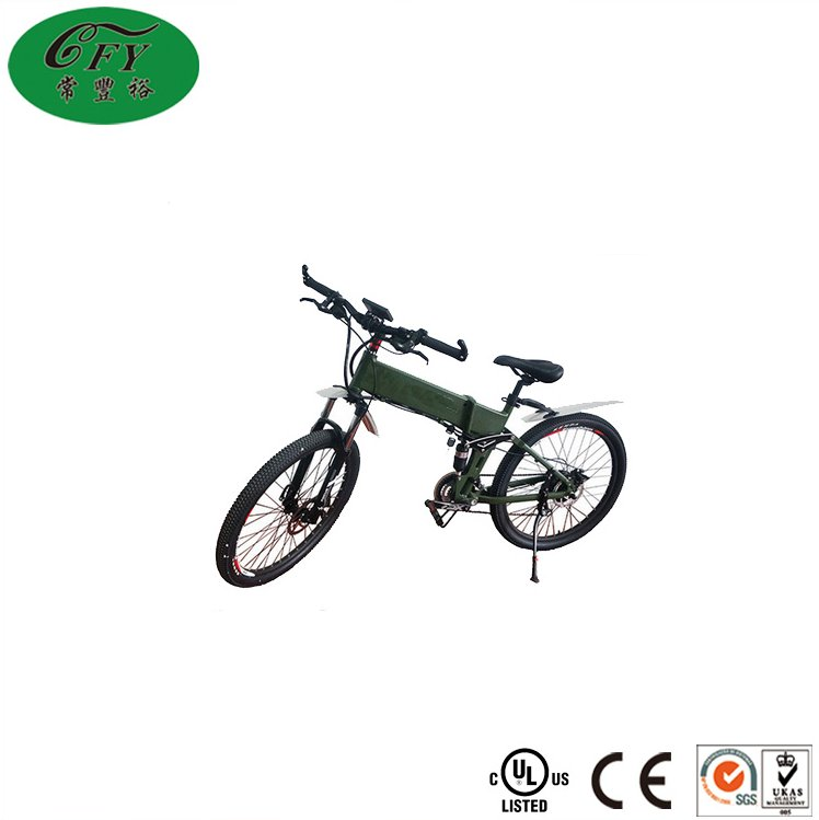26 inch 18650Aluminum alloy 36V 10A hidden li-ion battery hummer electric bike with CE