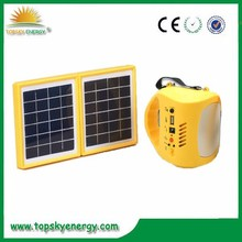 4.5W LED 2*1.7W panel with FM,SD,MP3 function Portable and multi-functional energy-saving emergency led rechargable solar light