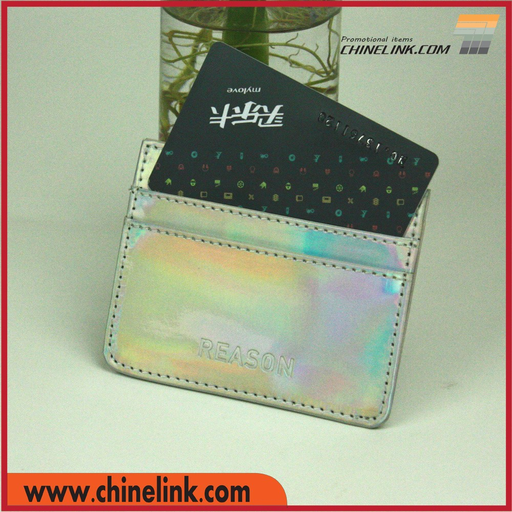 PU leather Credit Card Holder Case with 3 holders