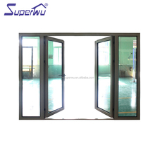 NAFS certificated China supplier used commercial frosted glass entry doors