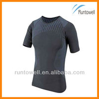 2013 Men's short sleeve compression wear, sublimation compression shirt / custom compression shirt/ cheap compression shirts