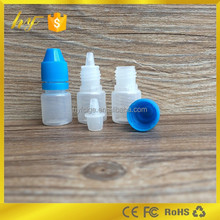 2ml PE plastic bottle with tamper resistant cap as the presenter for e liquid e cigarette oil eye dropper bottle
