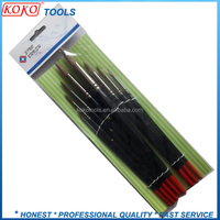 Polybag card packing grey bristles color wooden handle painter brush