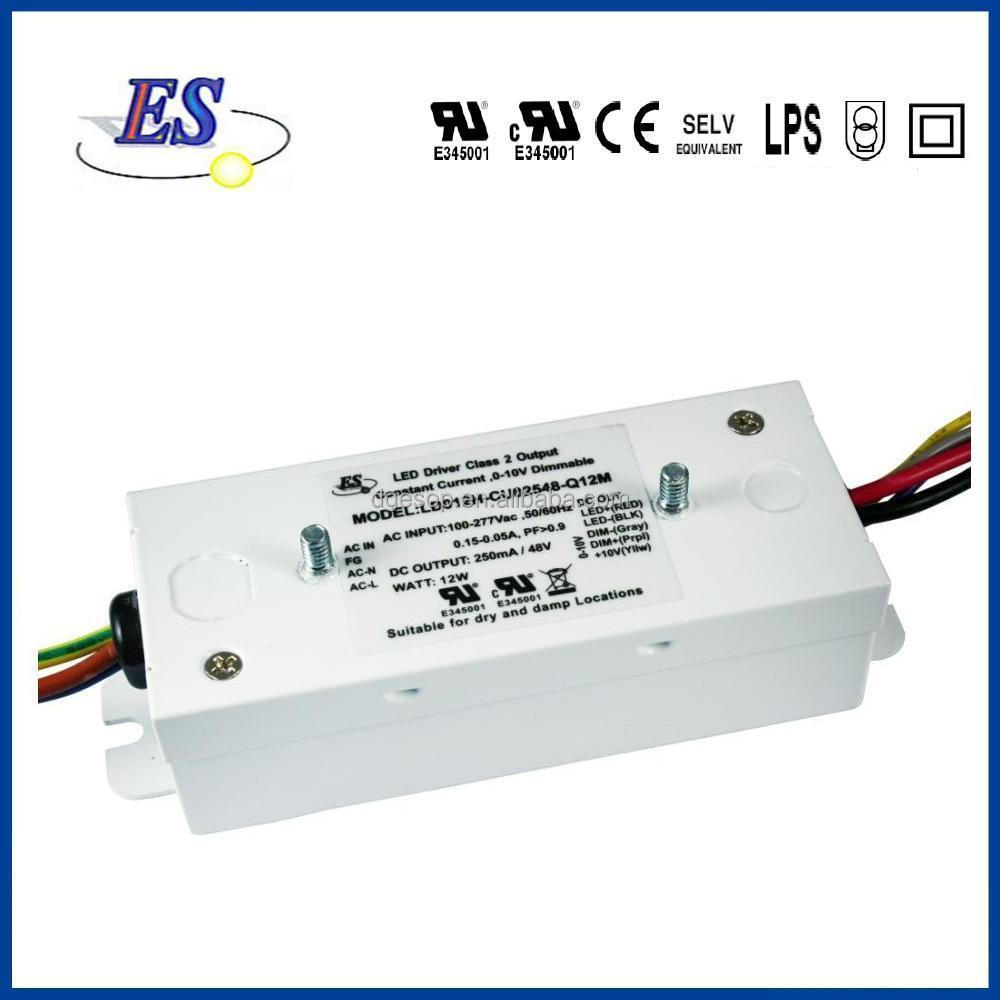 22W 12V 1800mA AC-DC Constant Current LED Driver with 1-10V Dimming (Metal enclosure),UL CUL CE
