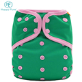 Happy flute Cotton washable cloth baby print diapers nappies wholesale