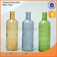 Wholesale glass wine bottles alcohol glass vodka glass flagon.