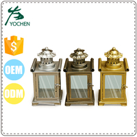 wholesale metal house hang lantern candle holder, fancy wedding hurricane candle holder