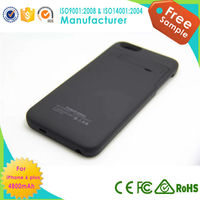Powered battery charger case for Iphone 6 plus charger case 4800mah OEM/ODM Factory