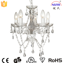 china supplier new product high quality acrylic chandelier,white chandelier acrylic wedding decoration NS-120148W-1